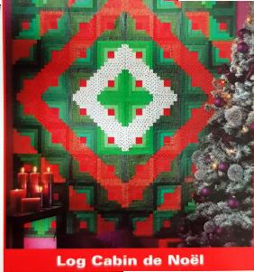 Quilt Log cabin de Noël