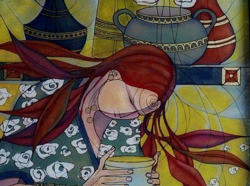 Pictor -Cornelia Tersanszki- REVERSE GLASS PAINTING