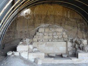 Camera funerară modestă a tumulului din apropierea celui consacrat regelui Dromihete (vest)