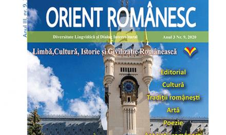 Revista ORIENT ROMANESC editia tiparita din luna Martie 2020